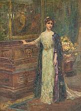 Letitia Bonnet Hart, (American, b. 1867), Lady in Salon