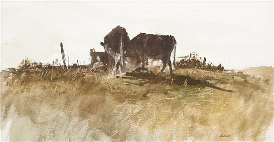 *Richard Treaster, (American, 1932-2006), The Pasture, 1965