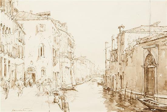 *Herman Armour Webster, (American, 1878-1970), Rio della Senza, 1930