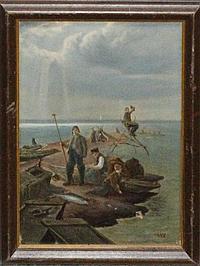 Frederick Billing, (American, 1835-1914), Fisherman