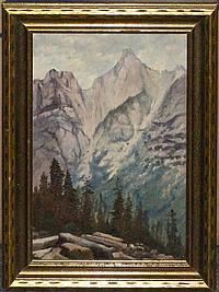 Frederick Billing, (American, 1835-1914), Western Mountain