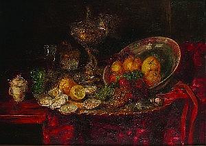 Hermann Gottlieb Kricheldorf, (German, 1867-1949), Still Life
