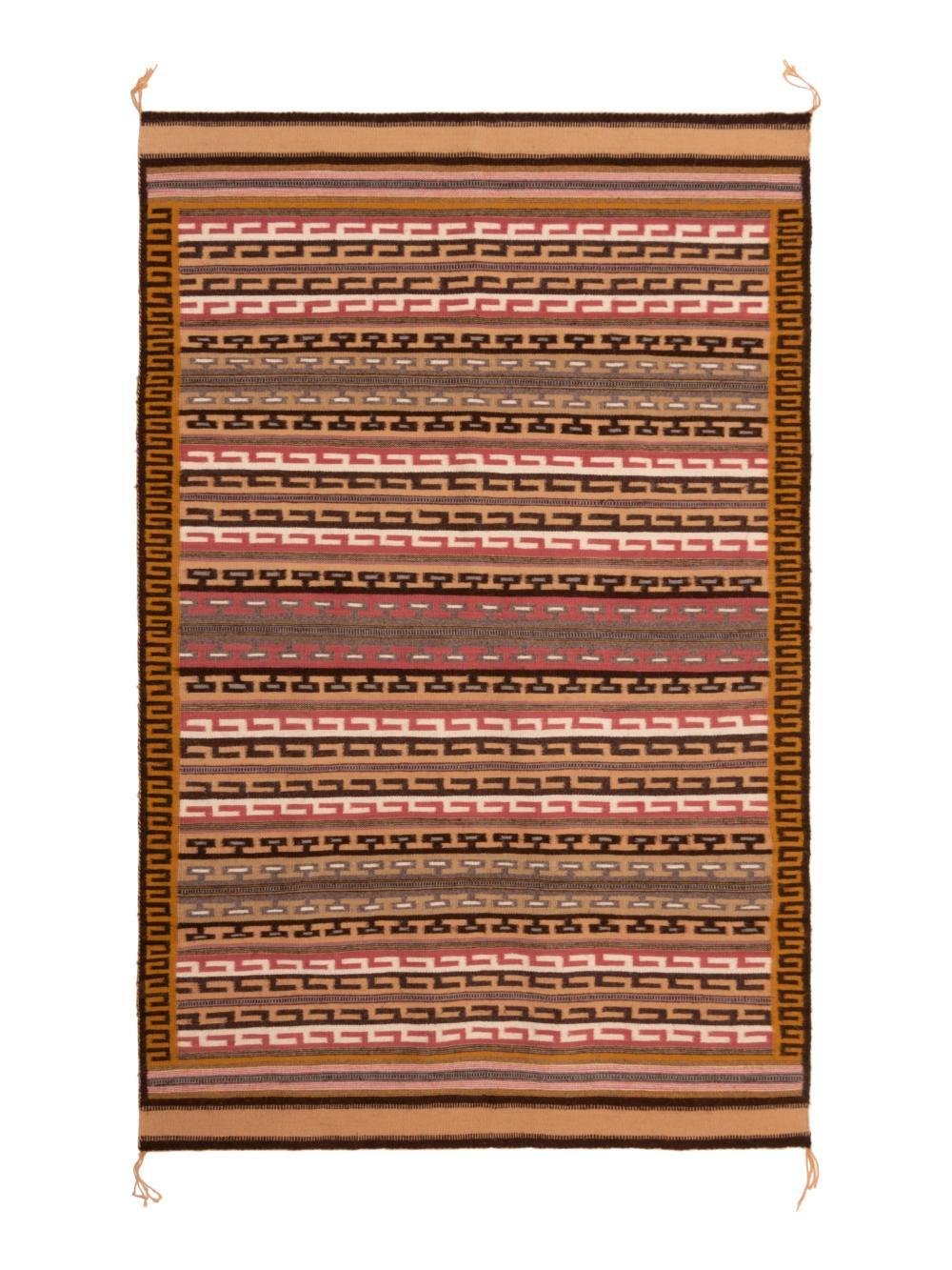 Mary Nez (Dine, 20th century) Navajo Wide Ruins Weaving