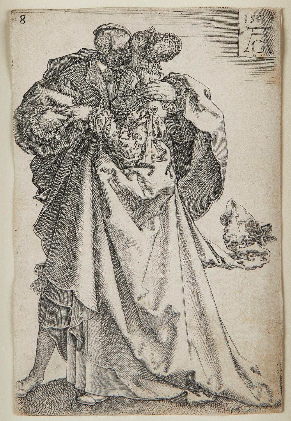 Heinrich Aldegrever Engraving from Large Wedding Dancers