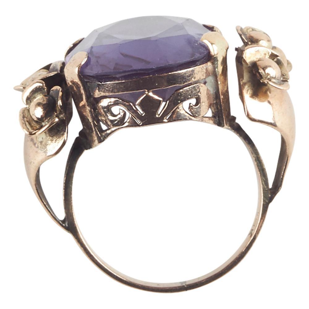 14K Rose Gold Sapphire Fashion Ring