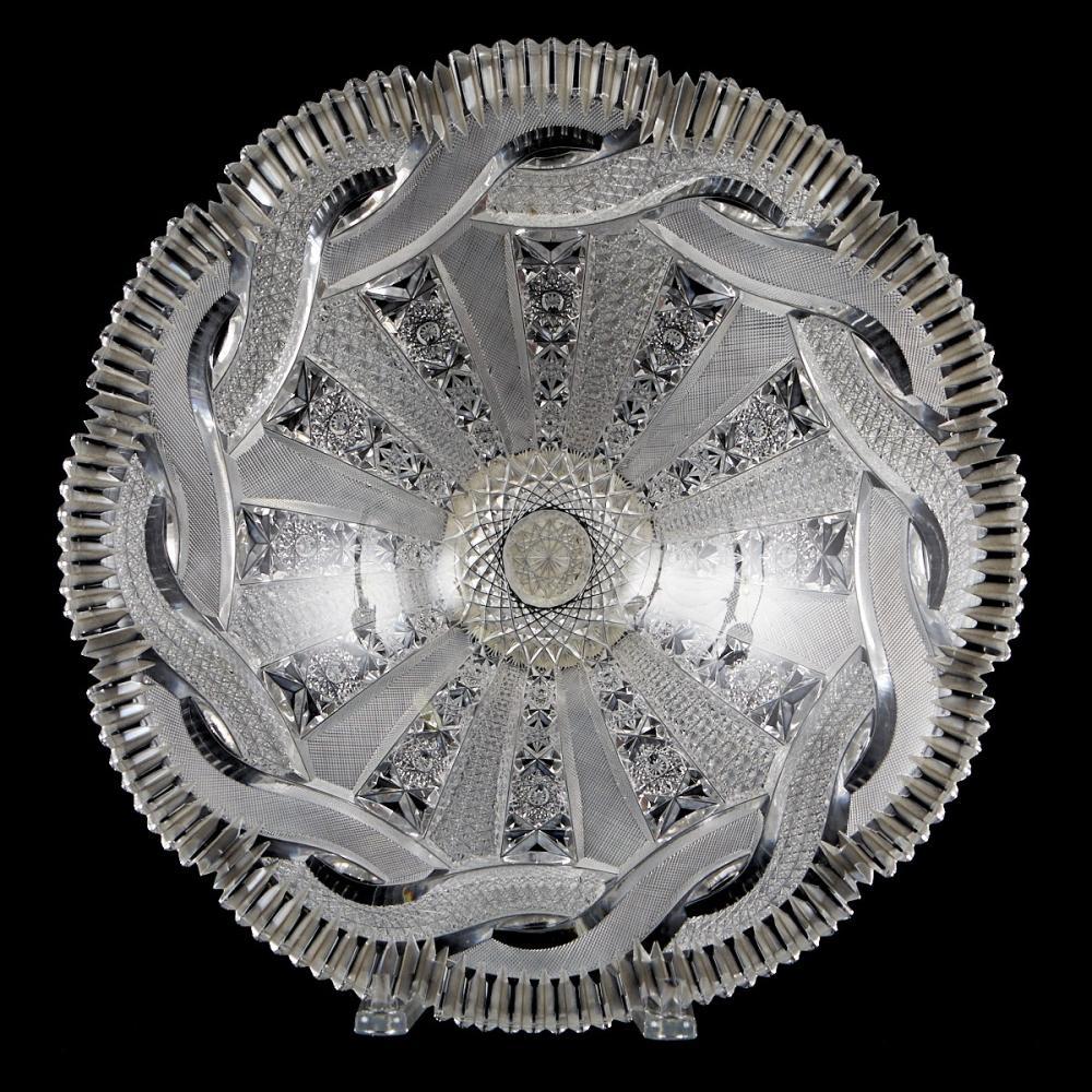 American Hand Cut Crystal Bowl