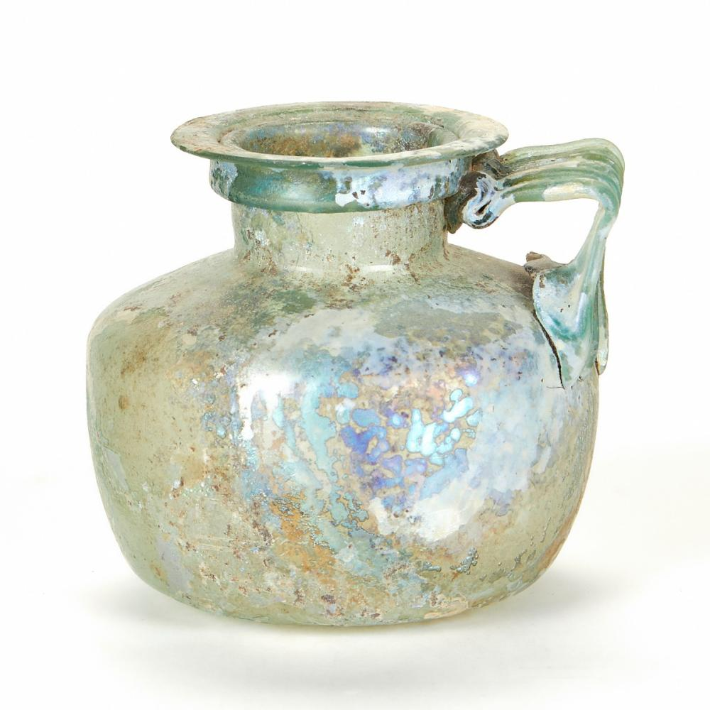 Roman Glass Jug w/ Applied Handle