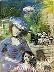 Hans Robert Pippal (1915-1998), Dame mit Kind im
