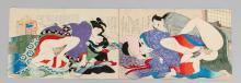 2 japanische Shunga Farbh
