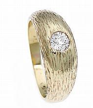 Altschliff-Diamant-Ring GG 585/000 mit einem Altschliff-Diamanten 0,50 ct feines Weiß/lupenrein, RG 59, 9,5 g