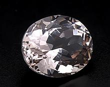 Morganit 7,59 ct oval fac. in excellenter Farbe und Reinheit