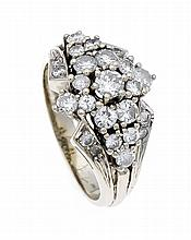 Brillant-Ring WG 585/000 mit Brillanten, zus. 1,30 ct W/SI, RG 55, 6,2 g