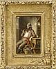 Hermann Kern (1838-1912), ungarischer Genremaler, rauchende Fischer. Typische Arbeit Kerns, der sich gerne der Darstellung verschiedener Berufsstände widmete, Öl/Holz, o. re. sign., 47 x 30 cm, im Prunkrahmen 84 x 69 cm, Hermann (1838) Kern, €800