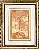 Fidus, d.i. Hugo Höppener (1868-1947), Lichtgebet, das berühmteste seiner Motive hier als große, rötelfarbene Lithographie, im Stein sign u. dat. (19)13, darunter mit Verlagsangabe des St. Georg Bundes, 45 x 30 cm, hinter Glas u. Pp. ger. 76 x 60 cm,  Fidus, €200