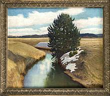 Hans Klatt (1876-1936), Landschaft mit letztem Schnee, Öl/Lwd., u. re. sign. u. dat. ''München 1922'', 62 x 74 cm, ger. 73 x 84 cm
