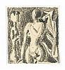 Max Ackermann (1887-1975), studierte in Weimar bei van de Velde, später in Stuttgart, Schüler Adolf Hölzels. Bis 1950 laufen gegenständliche und abstrakte Bildmotive parallel, danach malt er ausschließlich gegenstandslos. Zwei Akte., Max Ackermann, €1,200