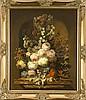Josef Kamenitzky Steiner (1910-1981), Wiener Maler, üppiges Blumenstillleben mit Schmettering auf Trompe-l'oil Marmorsockel, Öl/Holz, u. re. sign., 60 x 50 cm, ger. 70 x 62 cm, Josef (1910) Steiner, €1,200