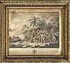 Étienne Fessard (1714-1777), Kupferstich 'Der Tod von Kapitän James Cook' nach J. Webber, mit ausführlichem Schriftrand, li. o. Ecke stärker besch. u. rissig., fleckig, ca. 23 x 31 cm, hinter Glas ger. 39 x 41 cm, Etienne Fessard, €80