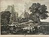 Étienne Baudet (1638-1711) nach Nicolas Poussin (1594-1665), zwei sehr große Kupferstiche, ''Landschaft mit Diogenes'', sowie ''Landschaft mit Polyphem'', mit ausführlichem Schriftrand und Verlagsadresse, leichter Lichtrand, je ca. 59 x 77 cm,, Etienne Baudet, €300