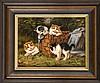 Benno Kögl (1892-1973), spielende Kätzchen, ÖlLwd., u. li. sign. 18 x 24 cm, ger. 29 x 35 cm, Benno Kögl, €330