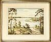 Albert Hennig (1896-?), Berliner Landschaftsmaler, Blick über den Wannsee am sogenannten 'großen Fenster' in Berlin, aquarellierte Tuschfederzeichnung, u. re. sign., 35 x 46 cm, ger. 56 x 67 cm, Albert (1896) Hennig, €5