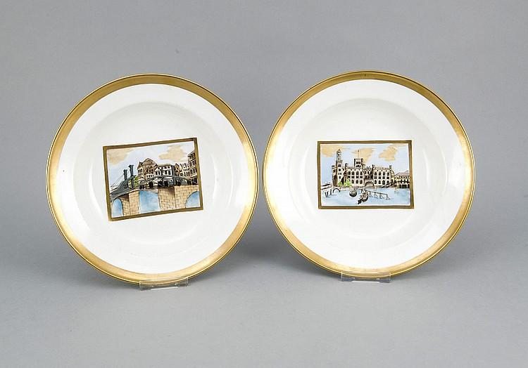 zwei tiefe teller meissen marke nach 1934 1 w im spieg. Black Bedroom Furniture Sets. Home Design Ideas
