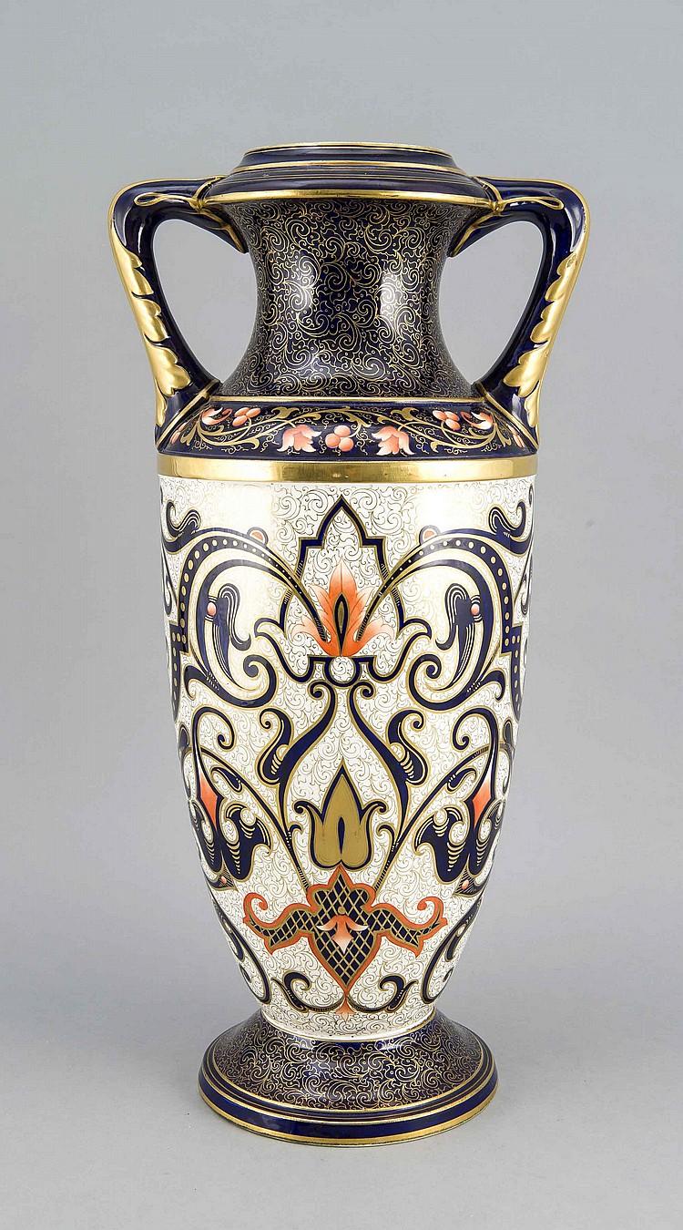 bodenvase frankreich 20 jh keramik bemalt in eisenrot. Black Bedroom Furniture Sets. Home Design Ideas