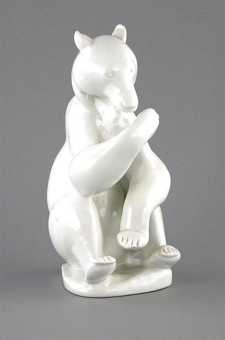 Sitting Bear, Rosenthal, Selb, Bavaria, 1927,
