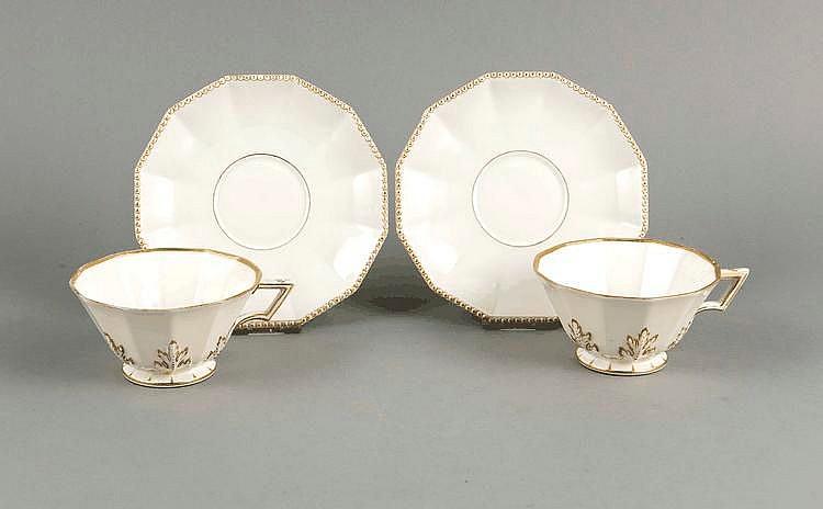 zwei tassen mit ut nymphenburg marke 1925 75 form pearl n. Black Bedroom Furniture Sets. Home Design Ideas
