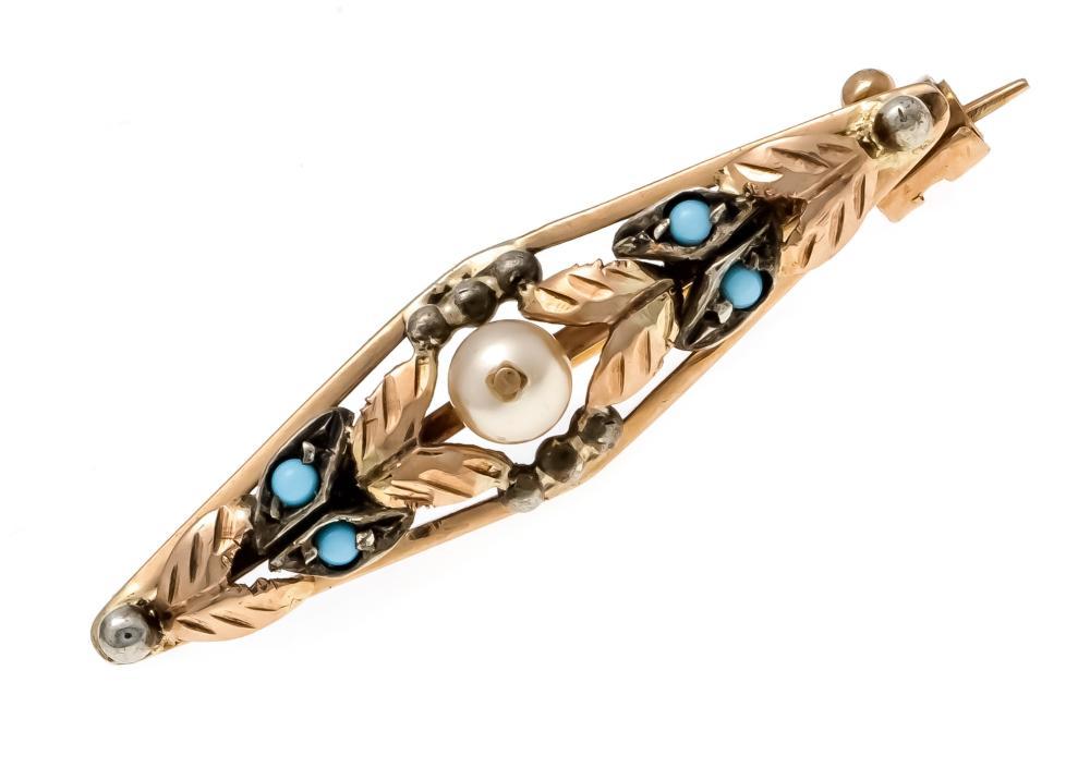 Turquoise pearl brooch RG 585