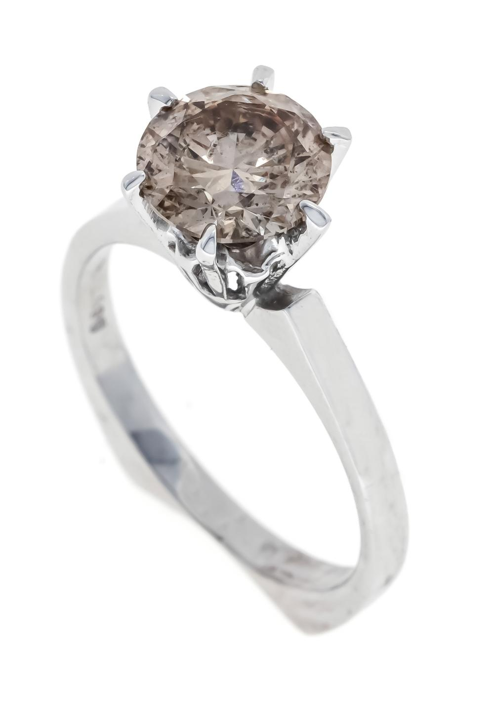 Brilliant ring WG 585/000 wit