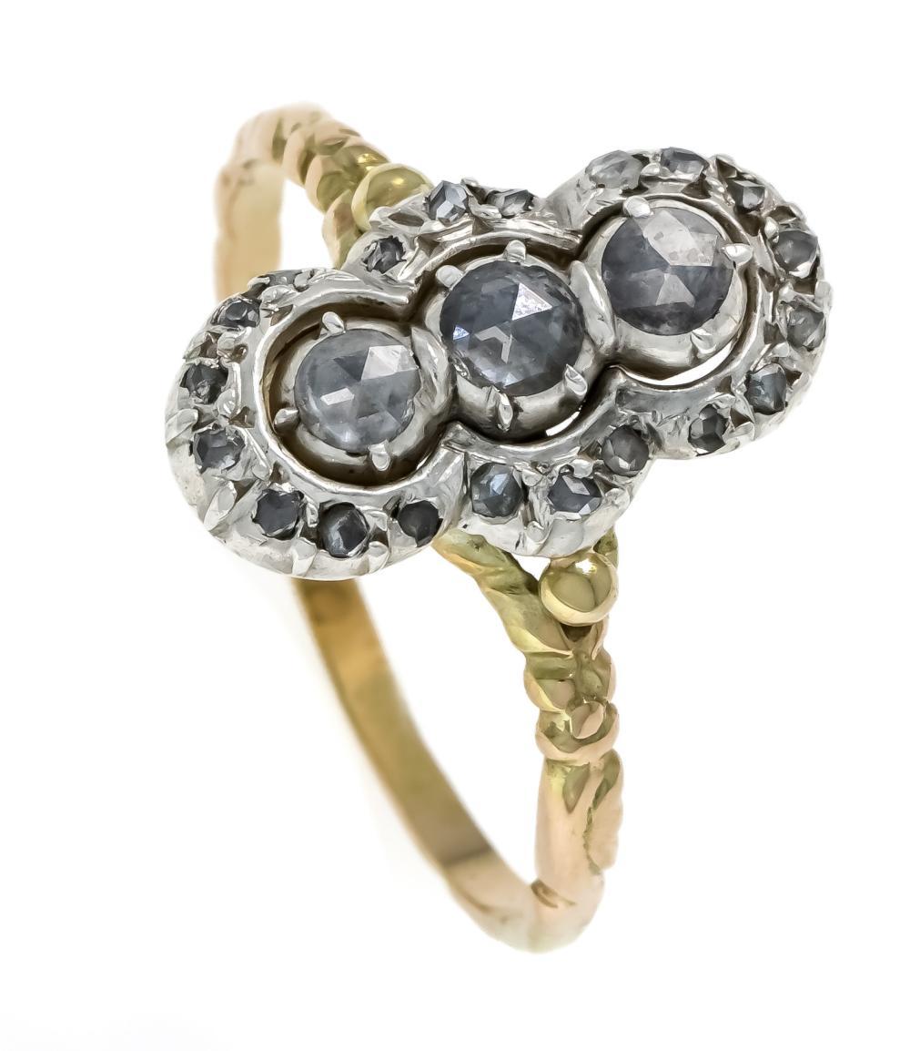 Art Déco diamond rose ring GG
