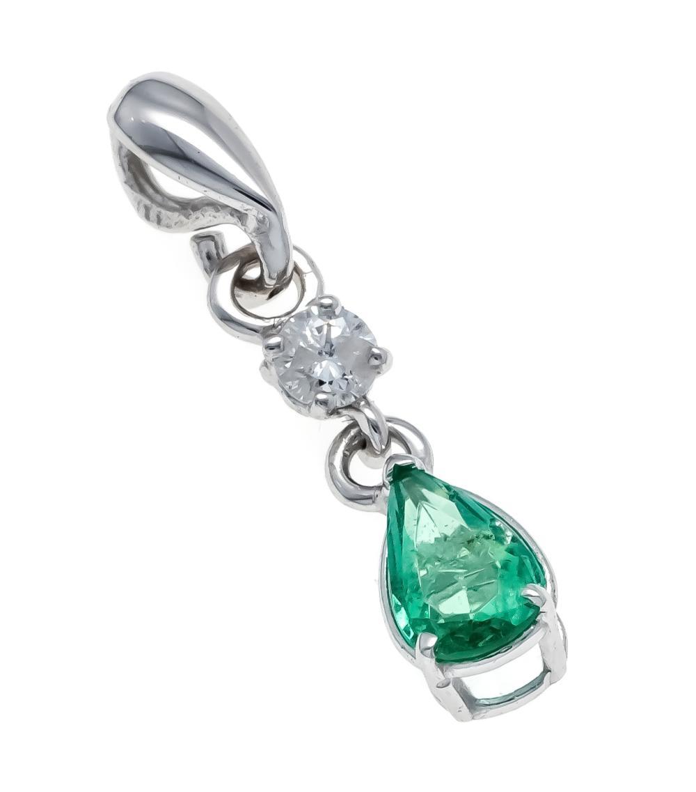 Emerald diamond pendant WG 58