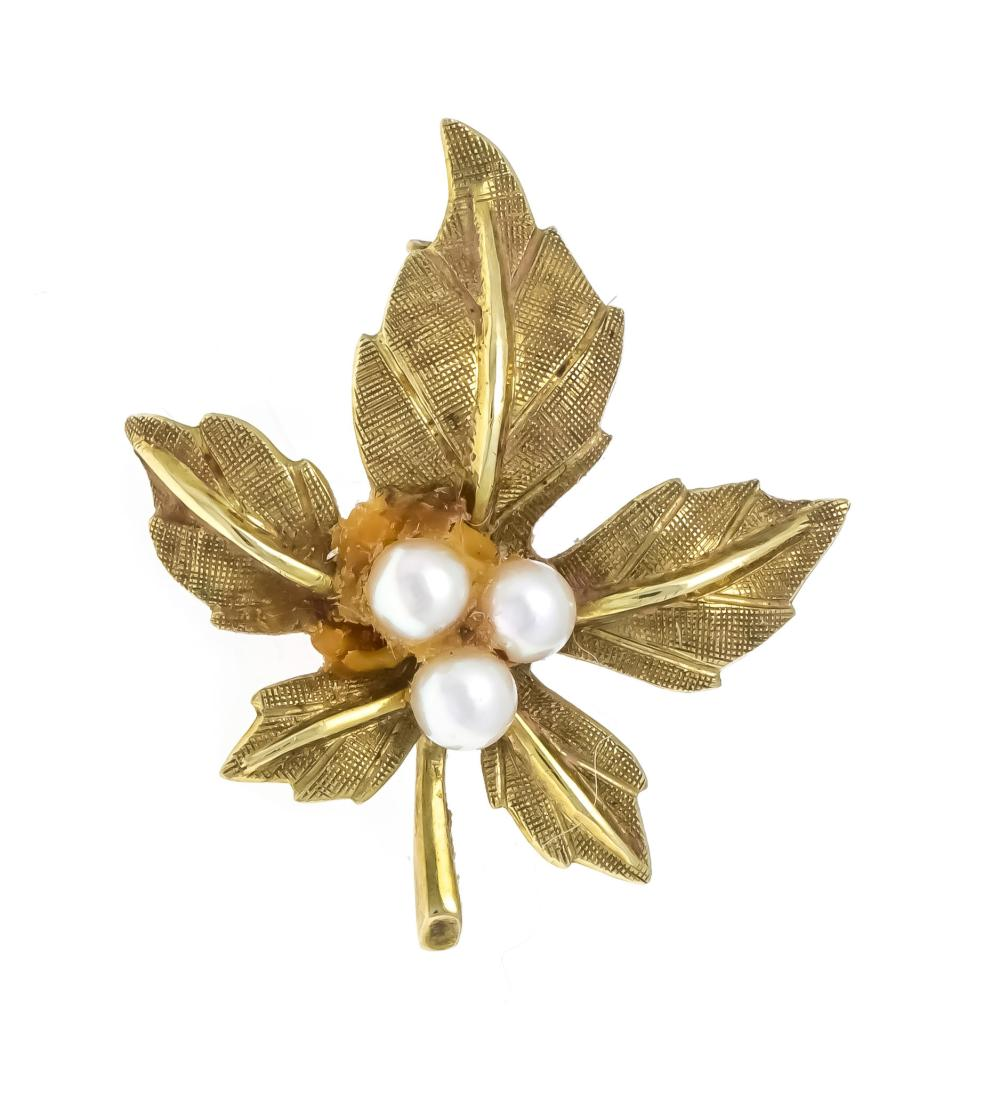 Pearl brooch GG 585/000 with