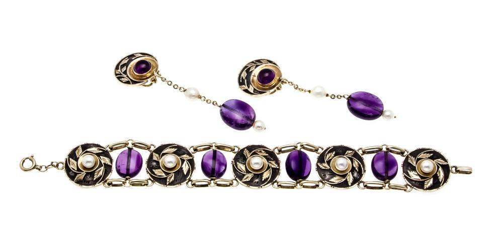 2-piece Art Deco jewellery se