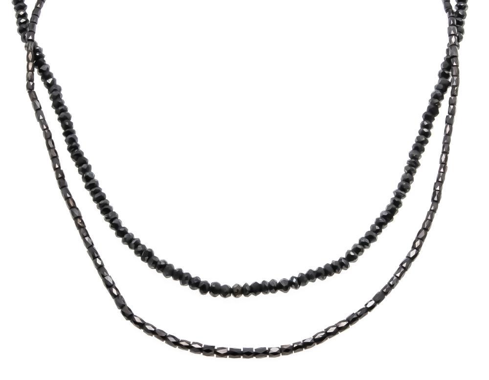 2 black diamond necklaces, wi