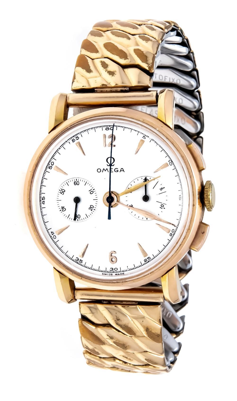 Omega Chronograph, 585/000 GG