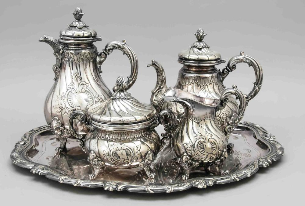 Four-piece coffee and tea set