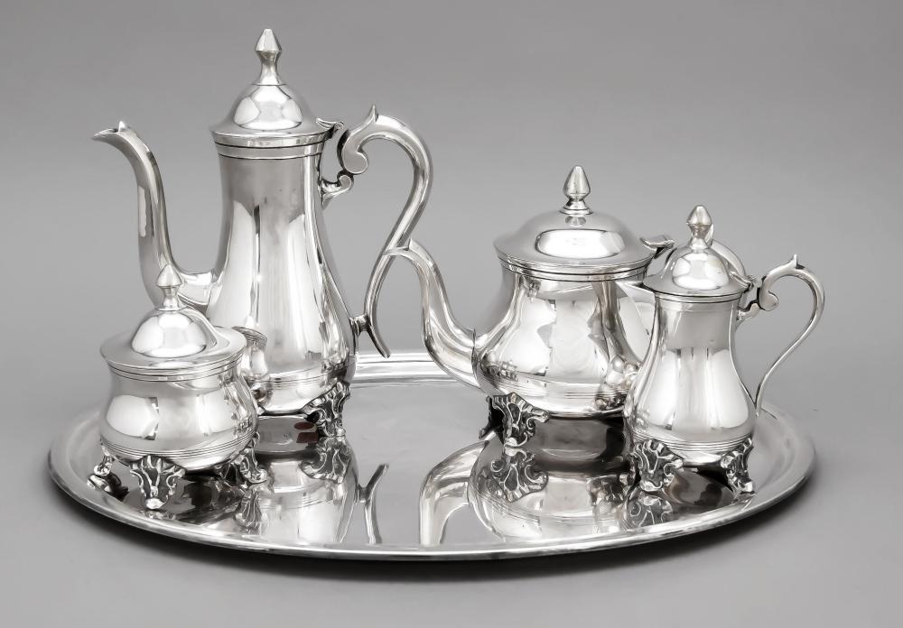 Four-piece coffee and tea pot
