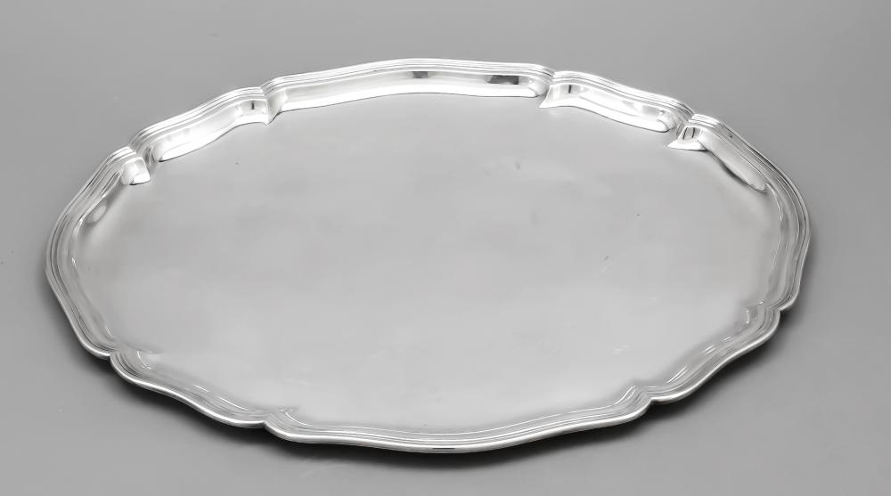 Large oval tray, German, 20th