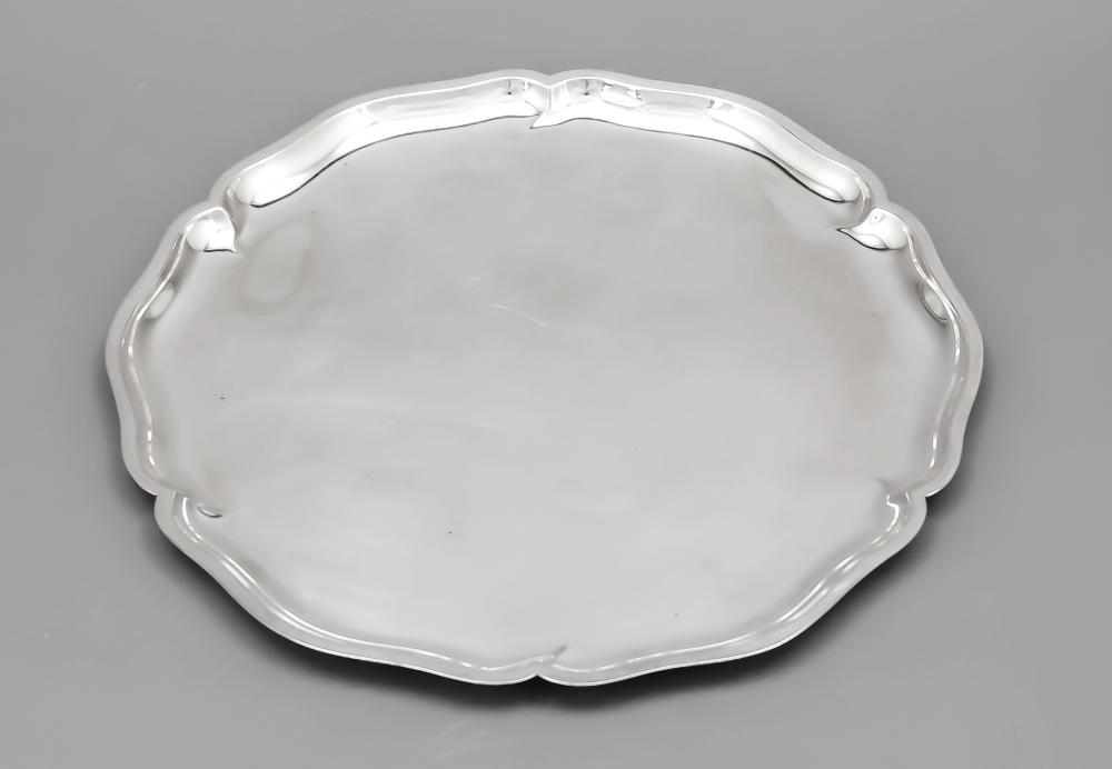 Round tray, German, 20th cent