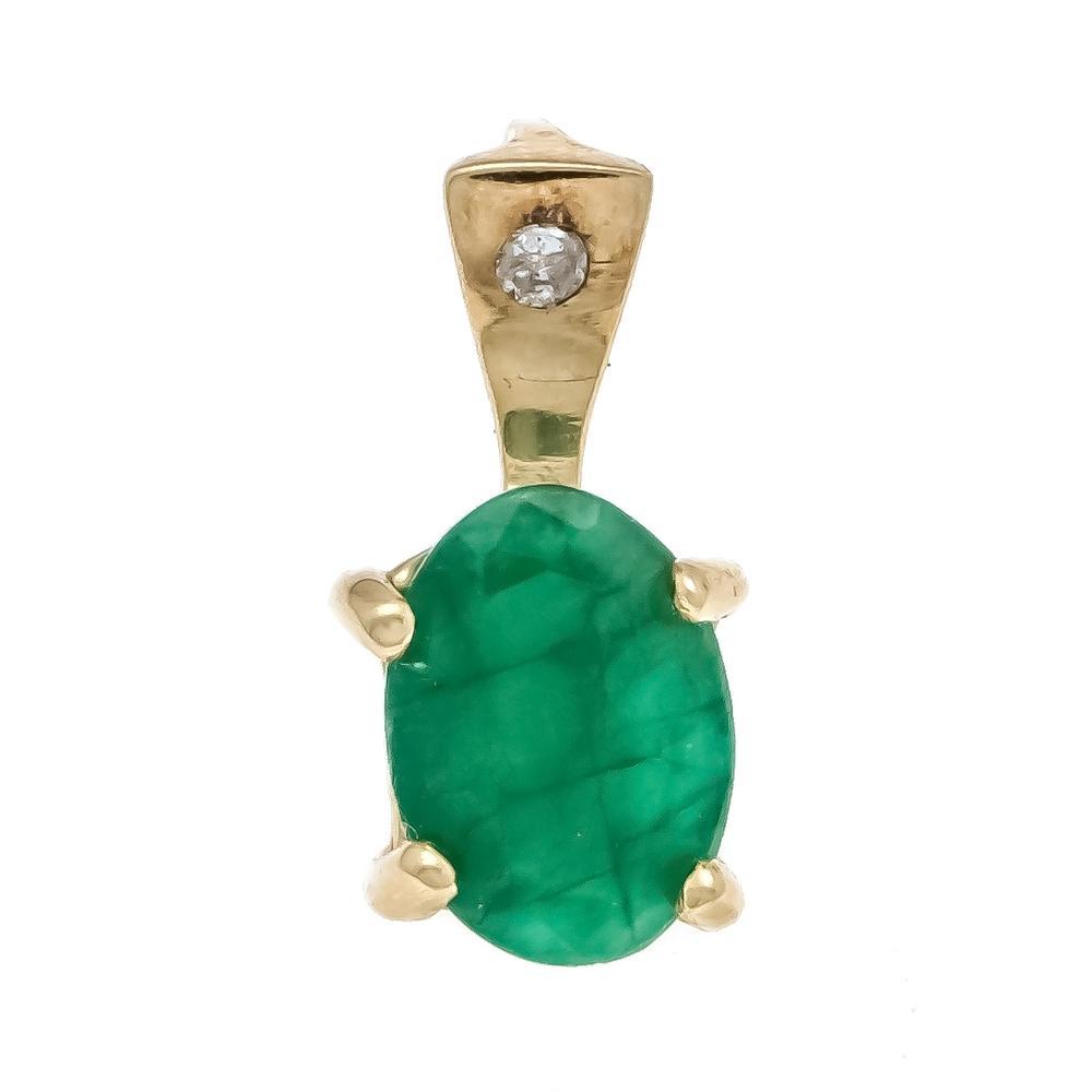 Emerald diamond pendant GG 58