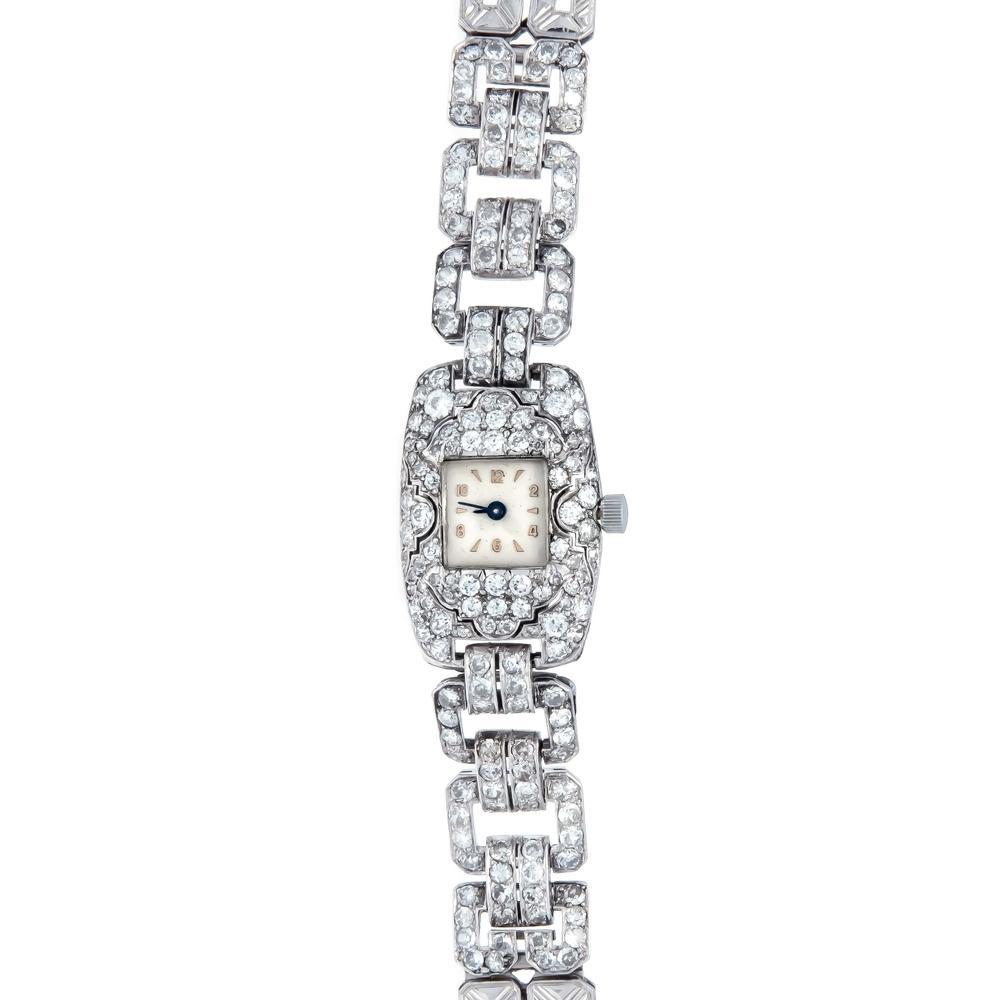 Brilliant diamond wrist watch