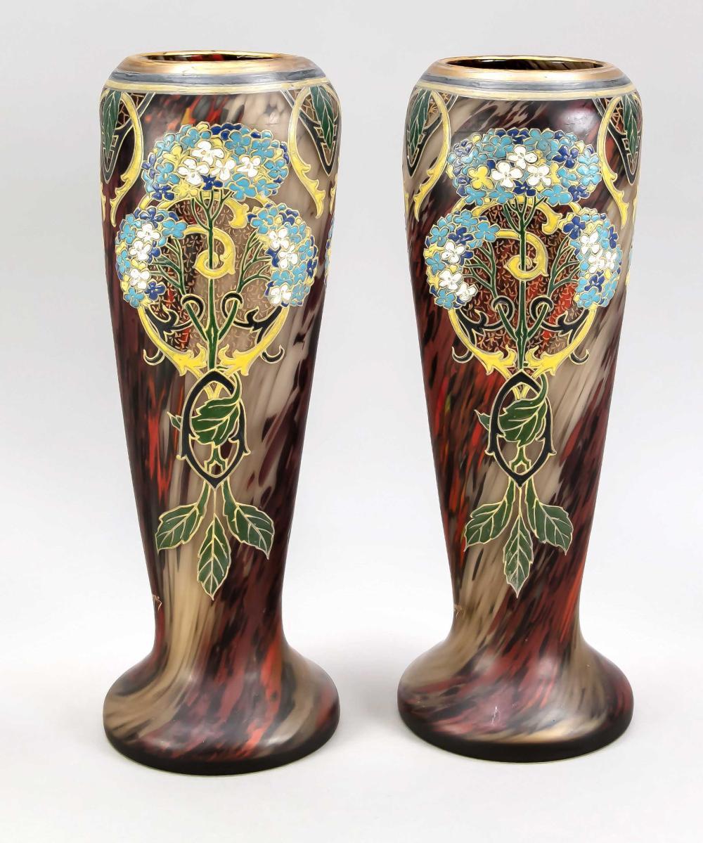 Pair of large Art Nouveau vase