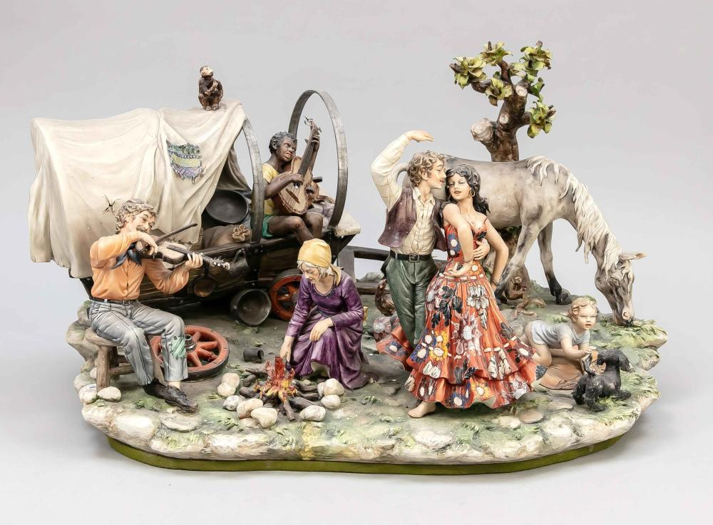 Large Capodimonte group of figures