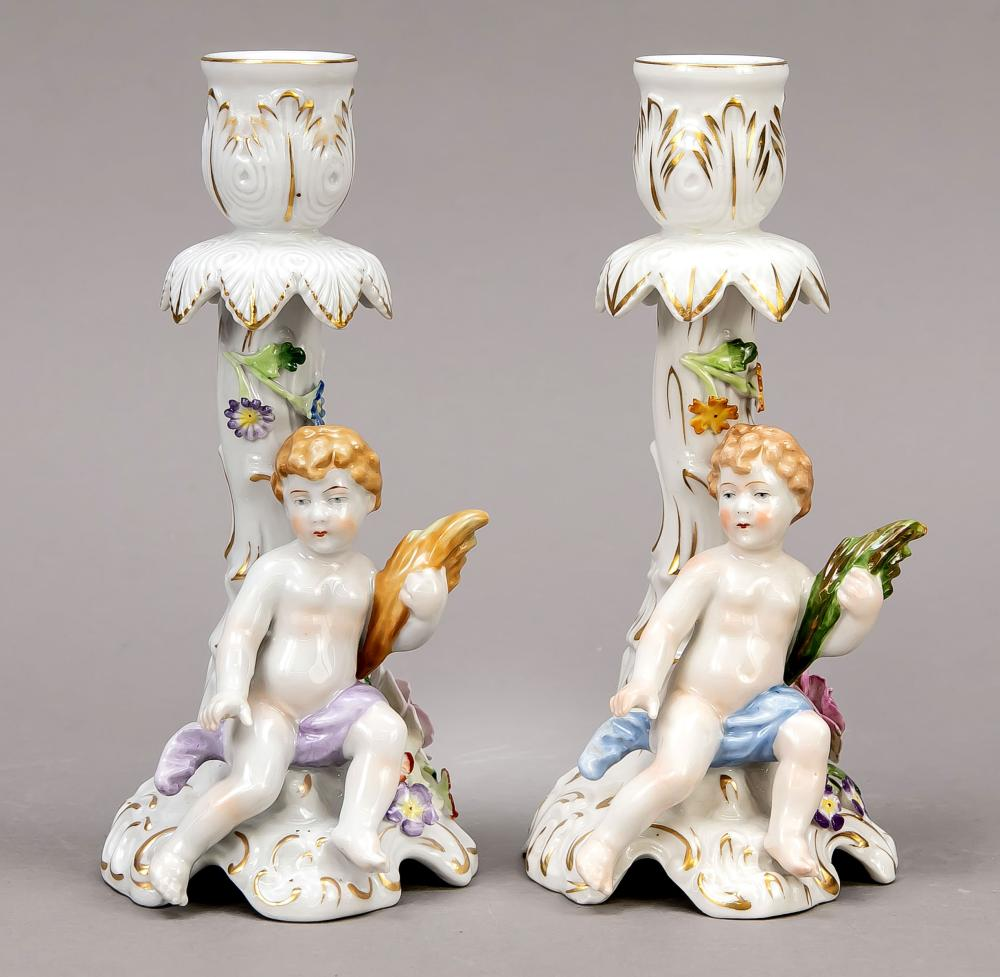 Pair of candlesticks, by Schie