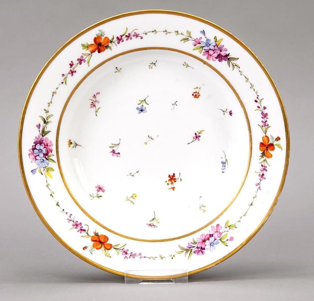 Deep plate, Sevres, mark I.Emp