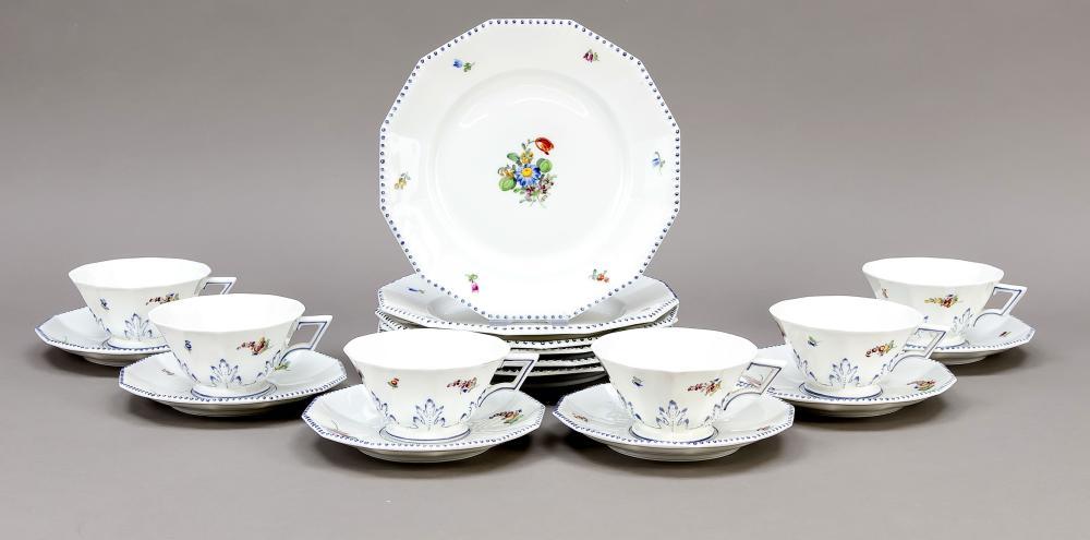 Six tea sets, 18 pieces, Nymph