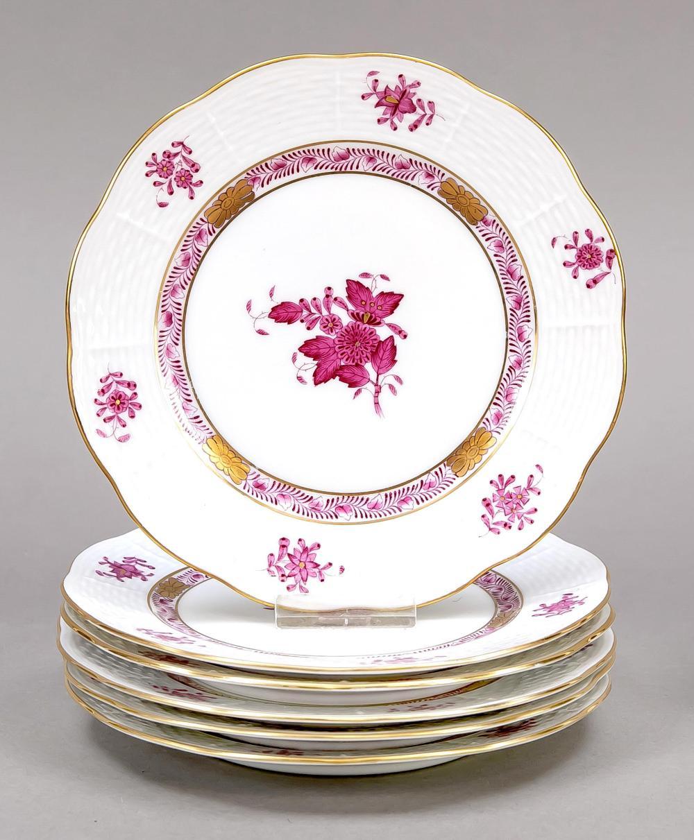 Six dessert plates, Herend, af