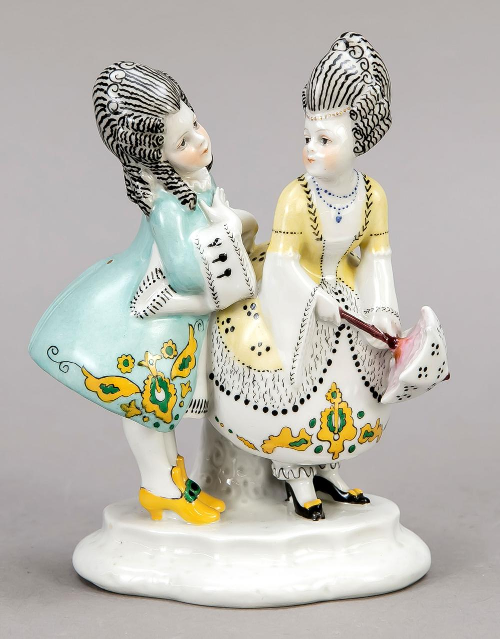 A pair of children in rococo d